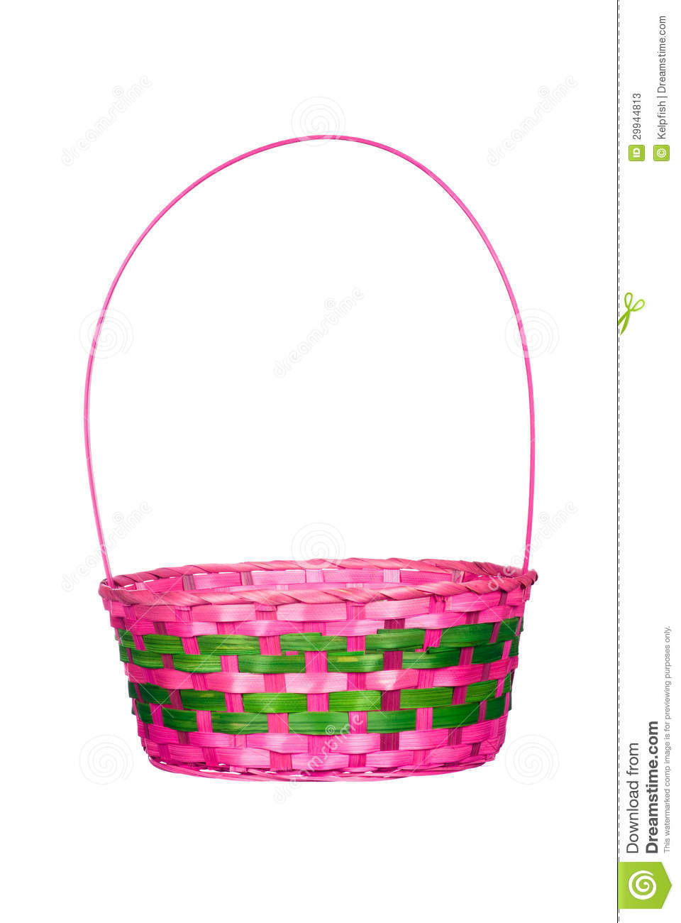 Easter Basket Isolated On White Stock Image - Image of multi ...