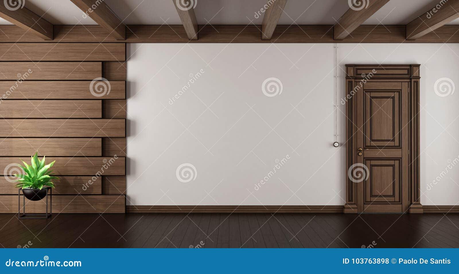 Empty elegant living room stock illustration. Illustration of decor ...