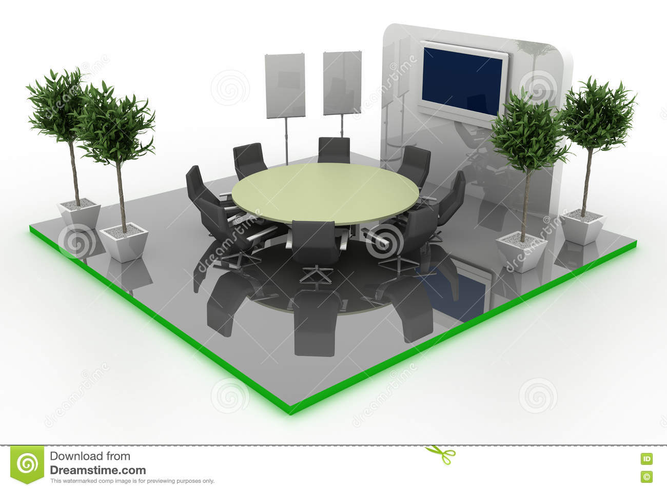 Exhibition Booth Floor Plan : Empty exhibition booth copy space illustration stock illustration
