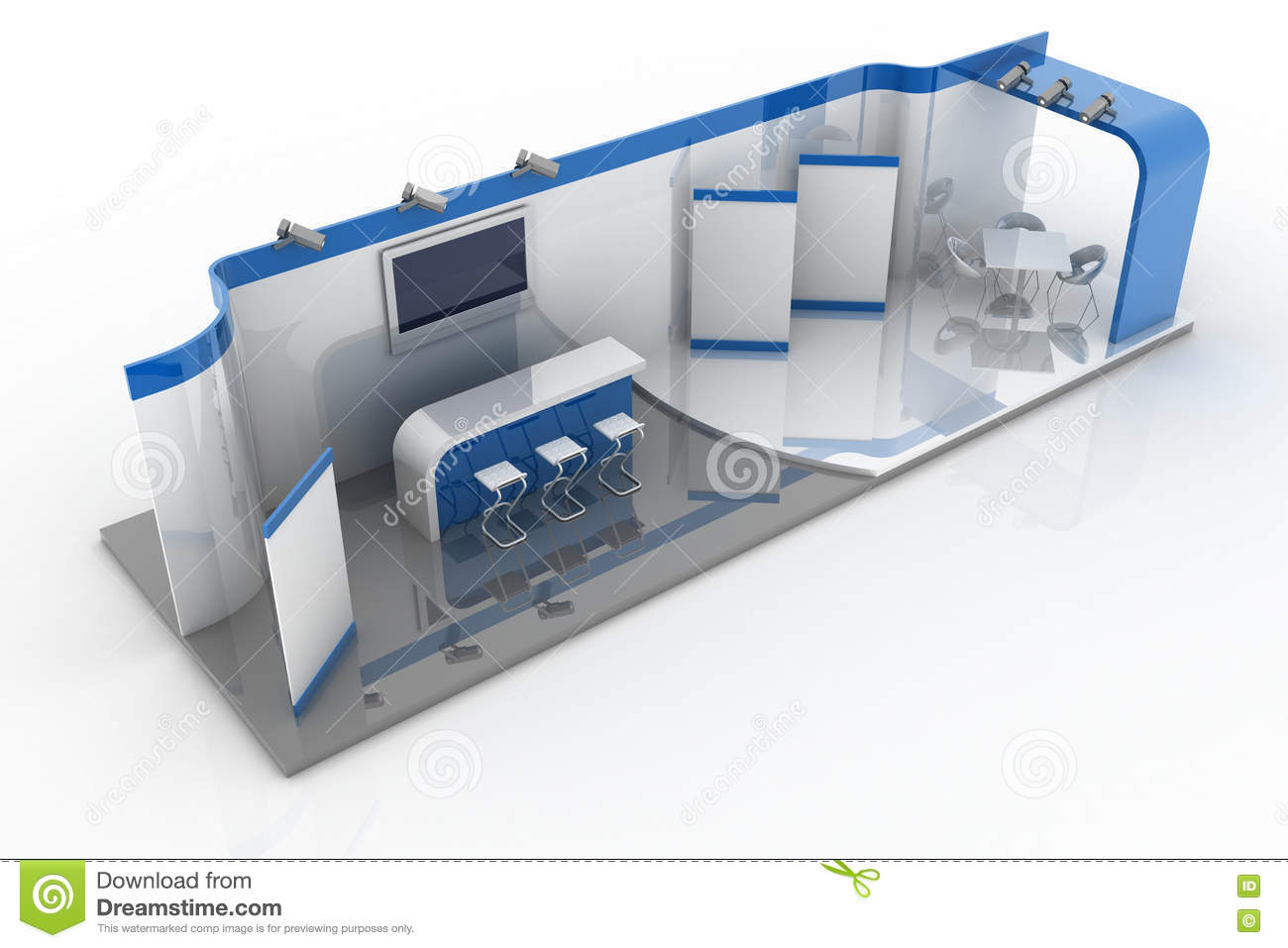 Exhibition Booth Animation : Exhibition stall d model mtr sides open diagast booth d