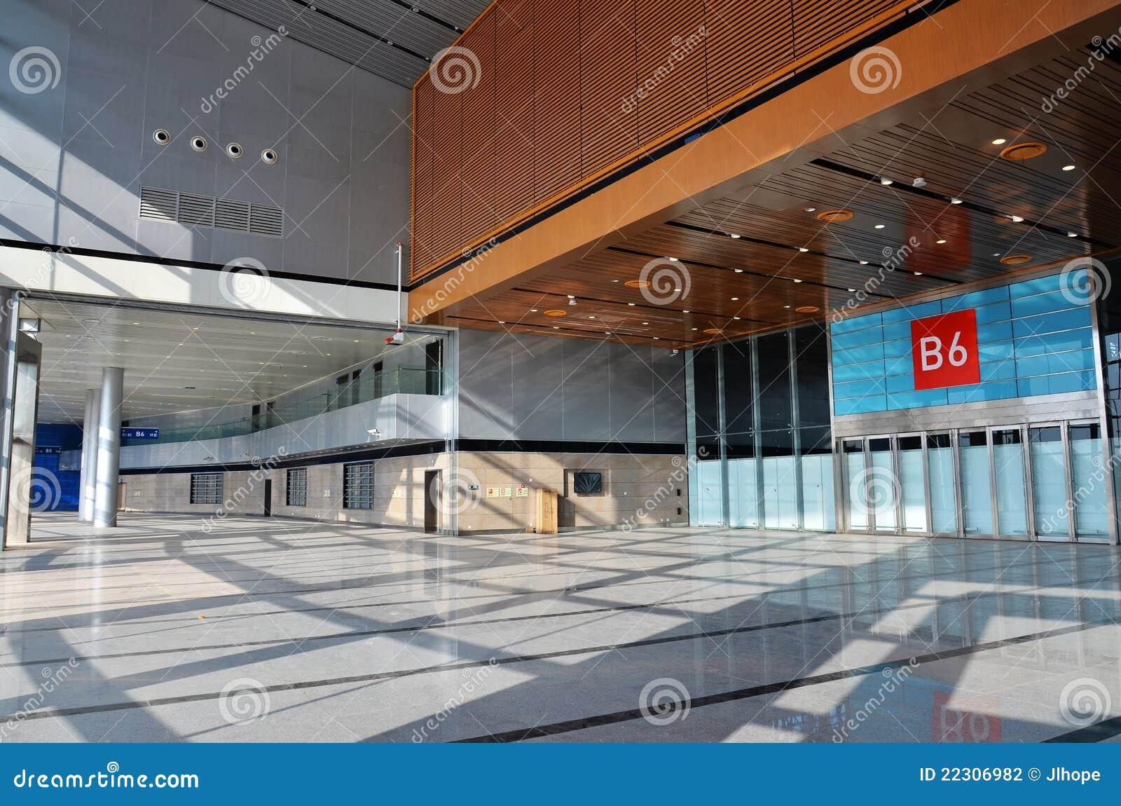 Empty exhibition hall