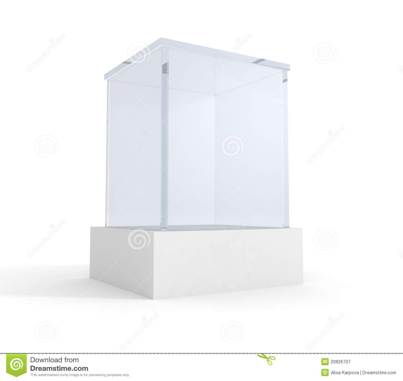 Exhibition Stand Framework : Empty exhibition or museum glass stand stock illustration