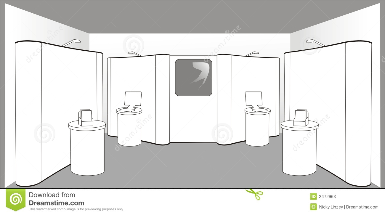 Exhibition Stand Vector Free Download : Empty exhibition stand stock vector illustration of space