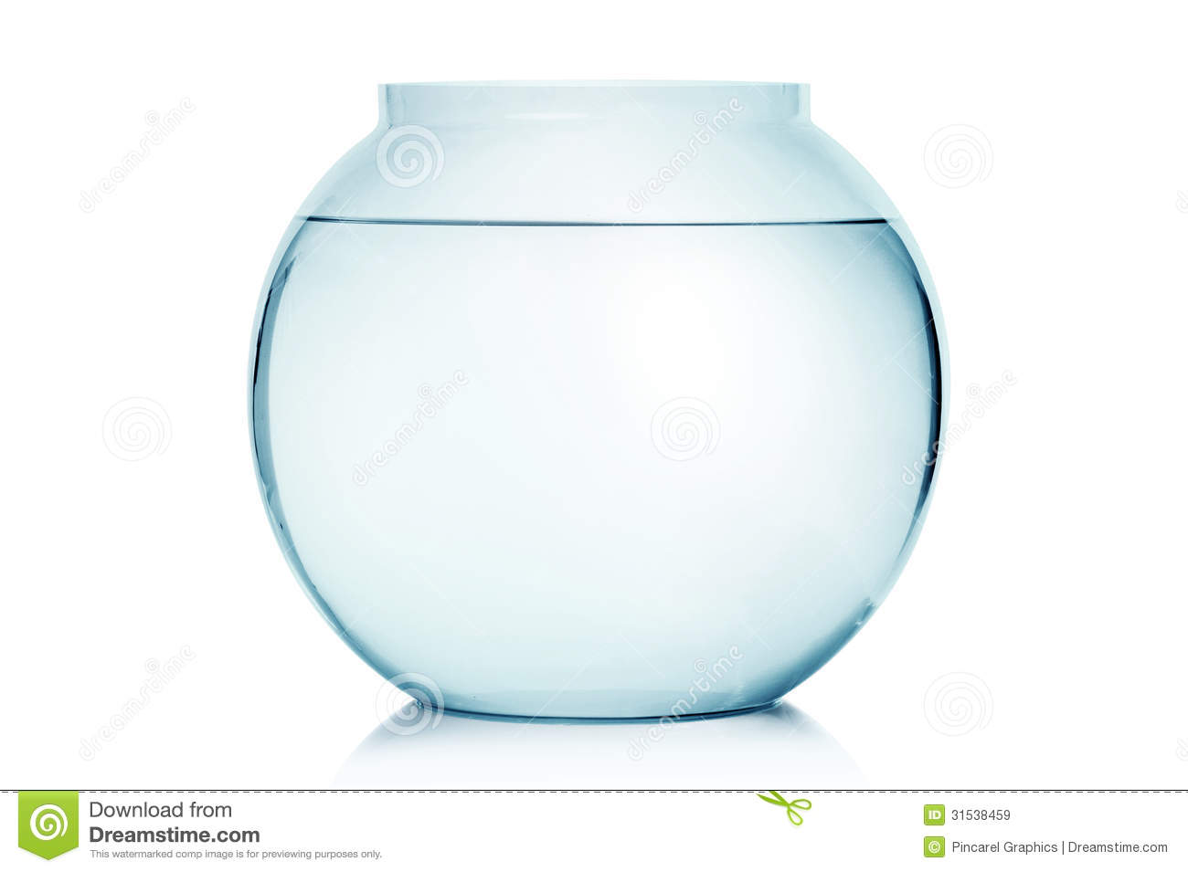 Empty Fish Bowl Royalty Free Stock Images - Image: 31538459