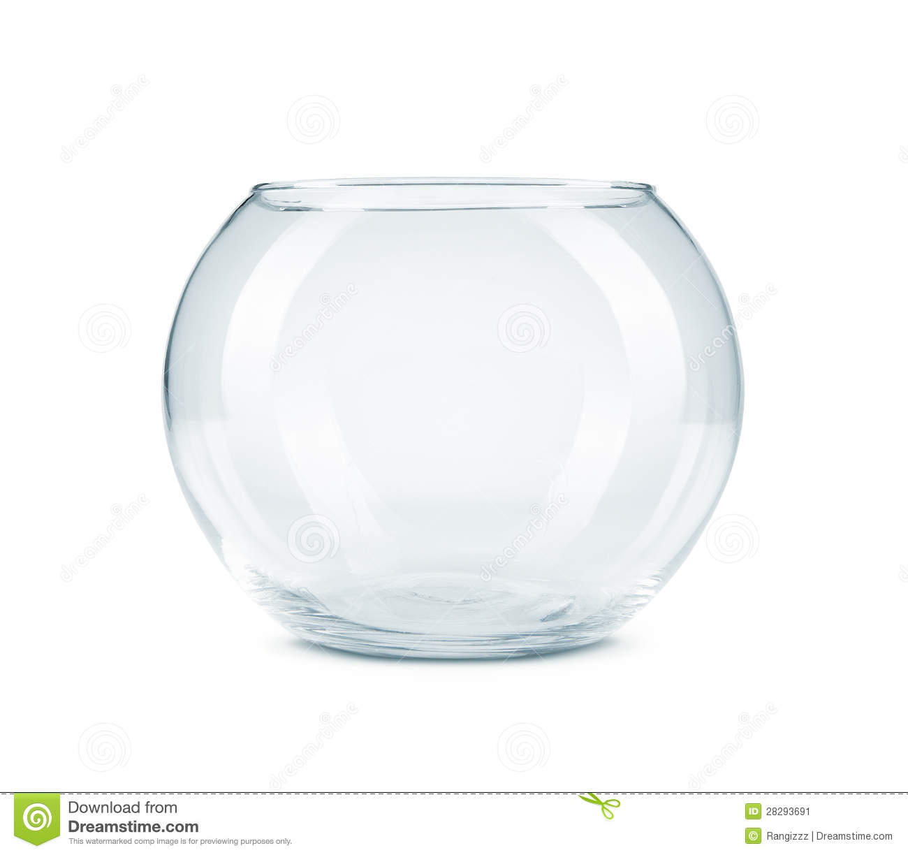 Empty fish bowl isolated on white stock image image for Legal fish bowl