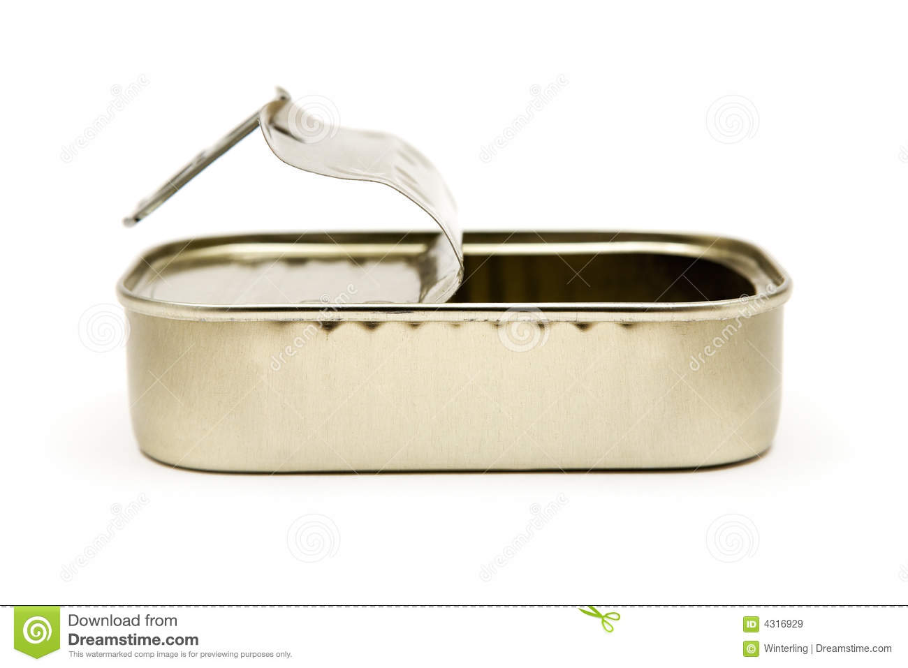 Empty fish can royalty free stock images image 4316929 for Empty sardine cans