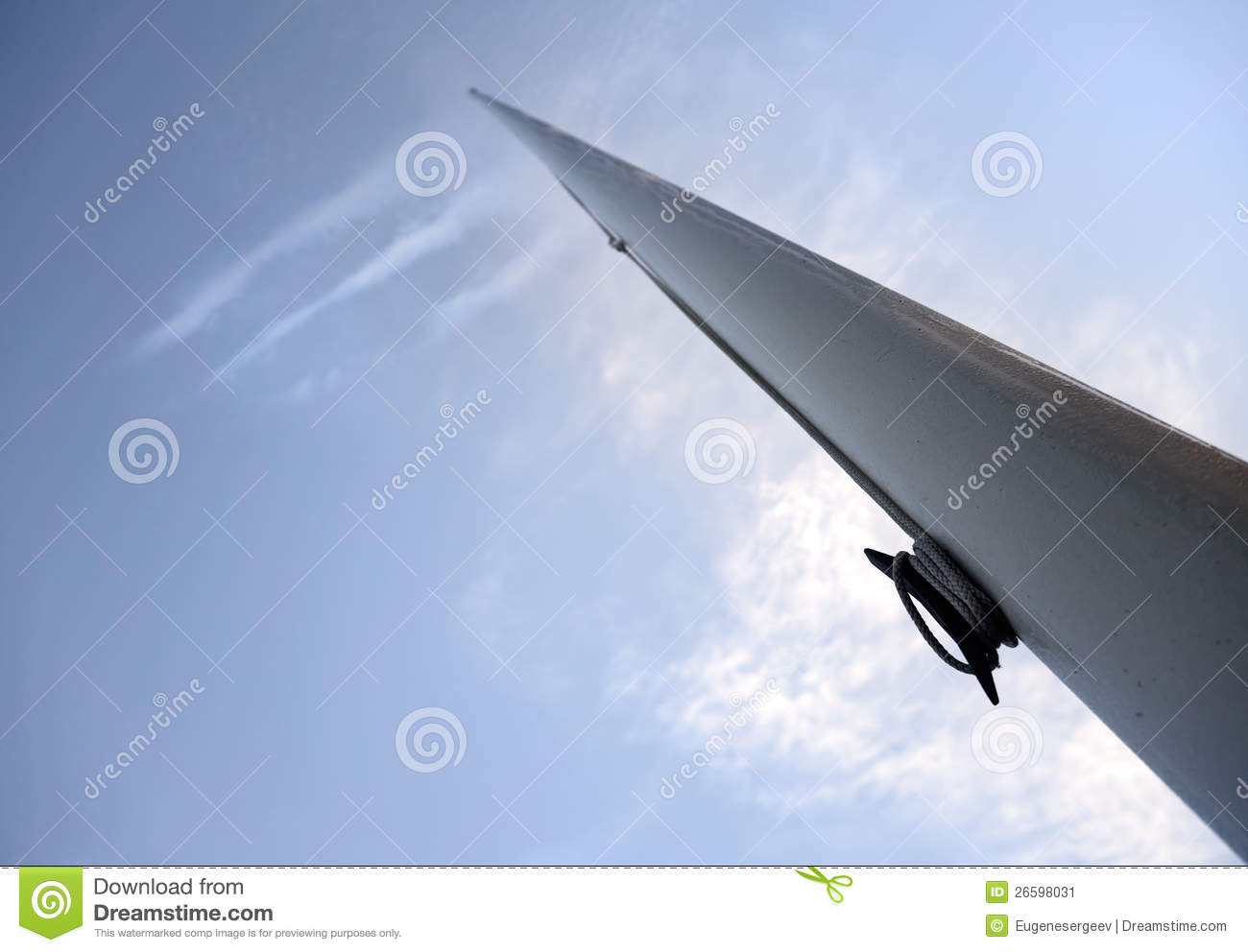 Empty flagpole perspective view above the sky stock image image empty flagpole perspective view above the sky sciox Image collections