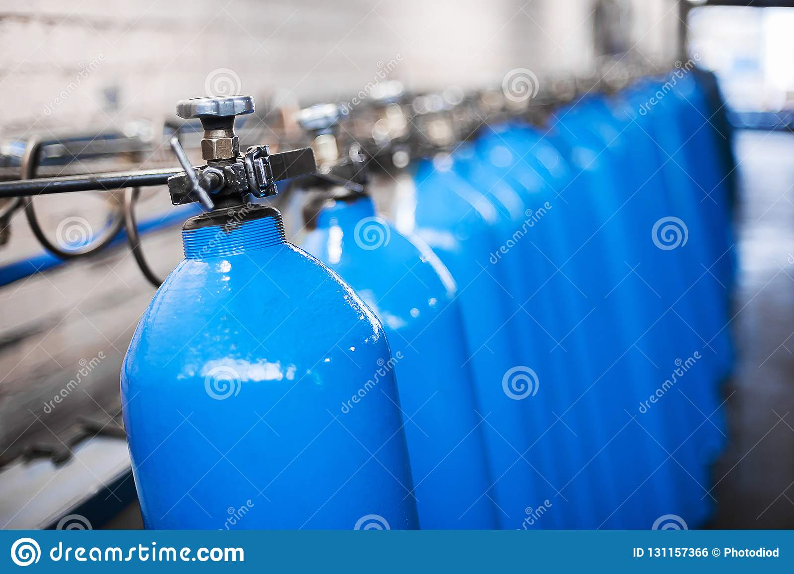 Oxygen Cylinder With Compressed Gas  Blue Oxygen Tanks For