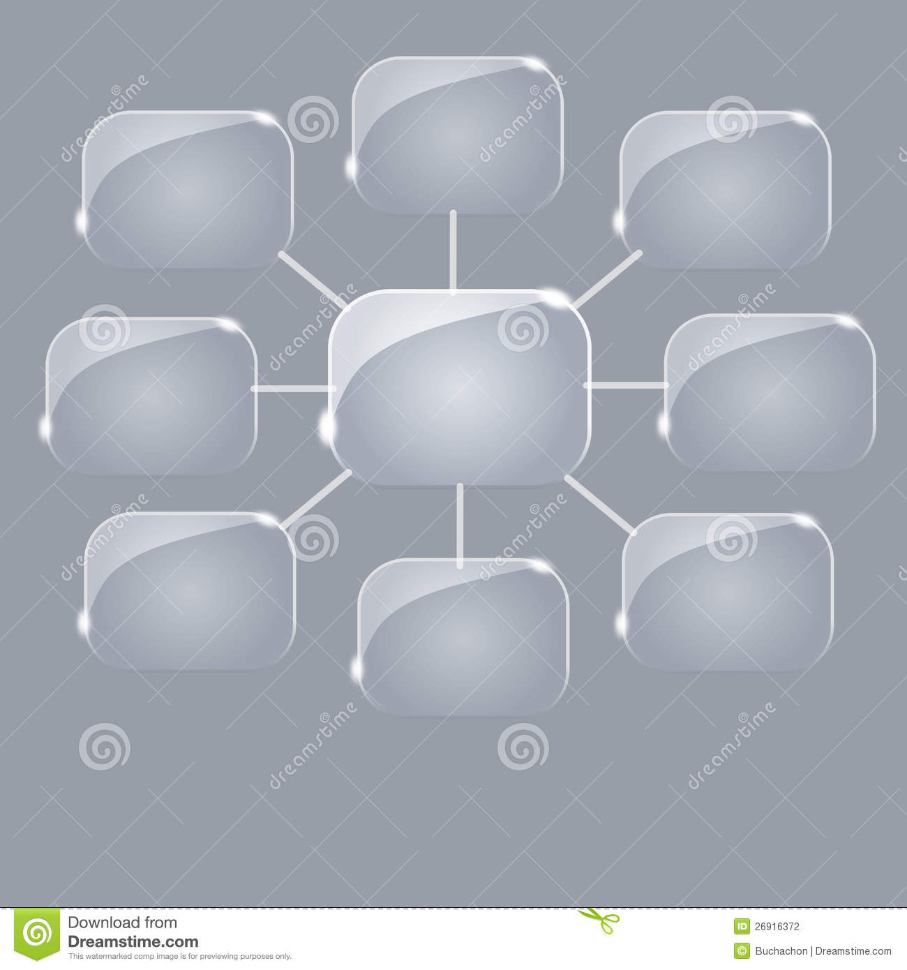 Empty Flow Chart Diagram Stock Photography - Image: 26916372