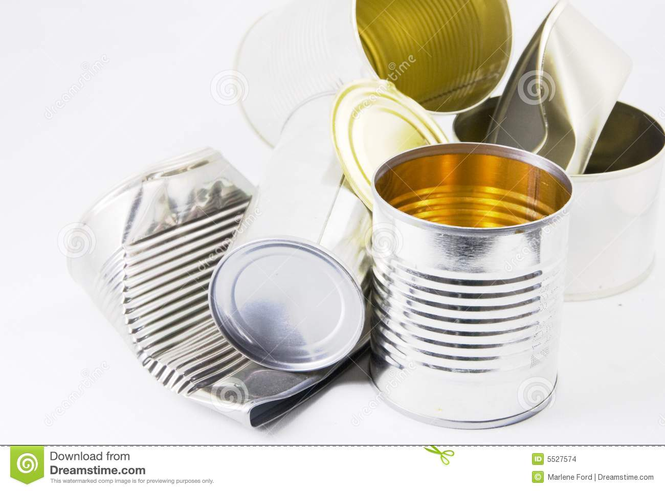 Empty Food Cans Stock Photo Image Of Garbage Recycling