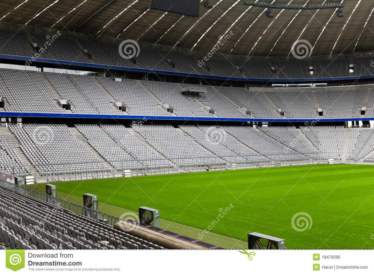 empty football stadium royalty free stock photo
