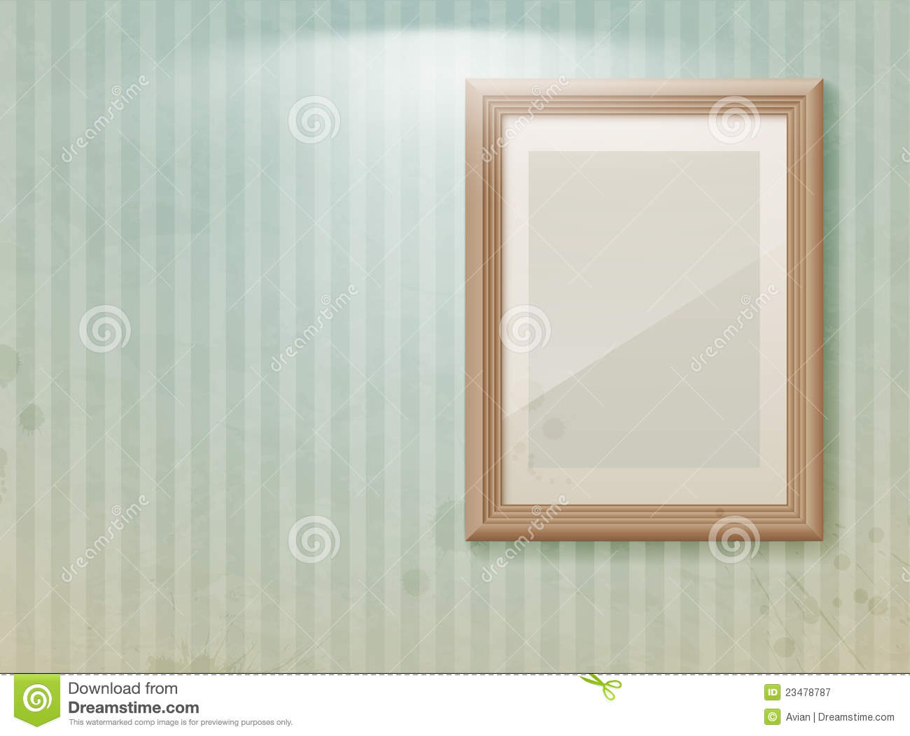 Royalty Free Stock Photography  Empty frame on the wall Empty Picture Frame On Wall