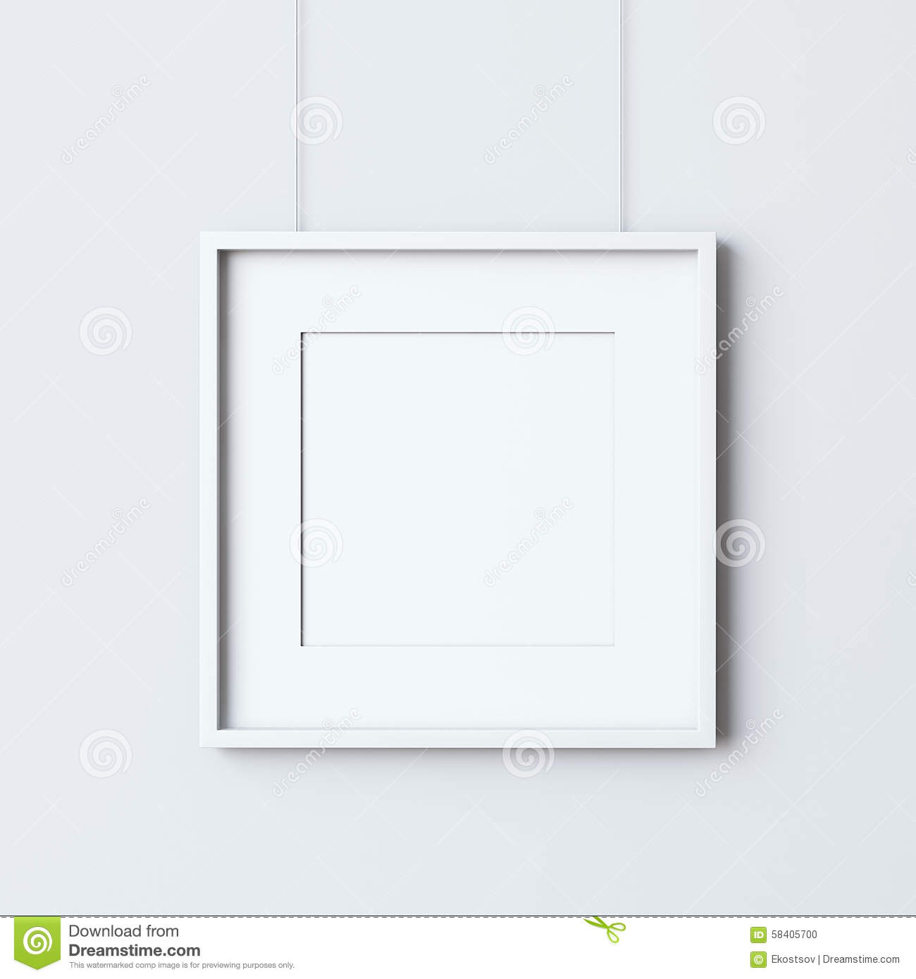 royalty free stock photo - White Square Frames