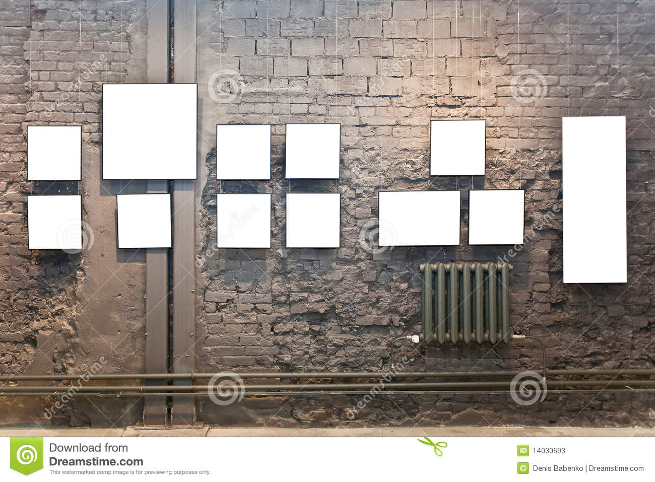 Displaying 19> Images For - Museum Wall With Frames... Empty Brick Wall