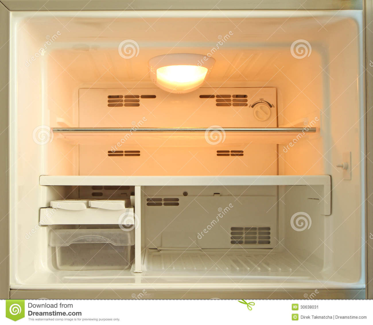 Empty Freezer Of Refrigerator Stock Image Image 30638031
