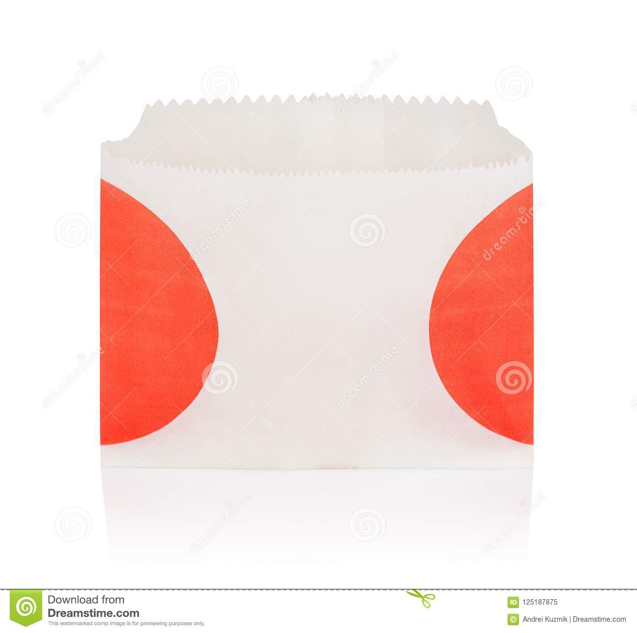 empty french fries box isolated stock image image of food