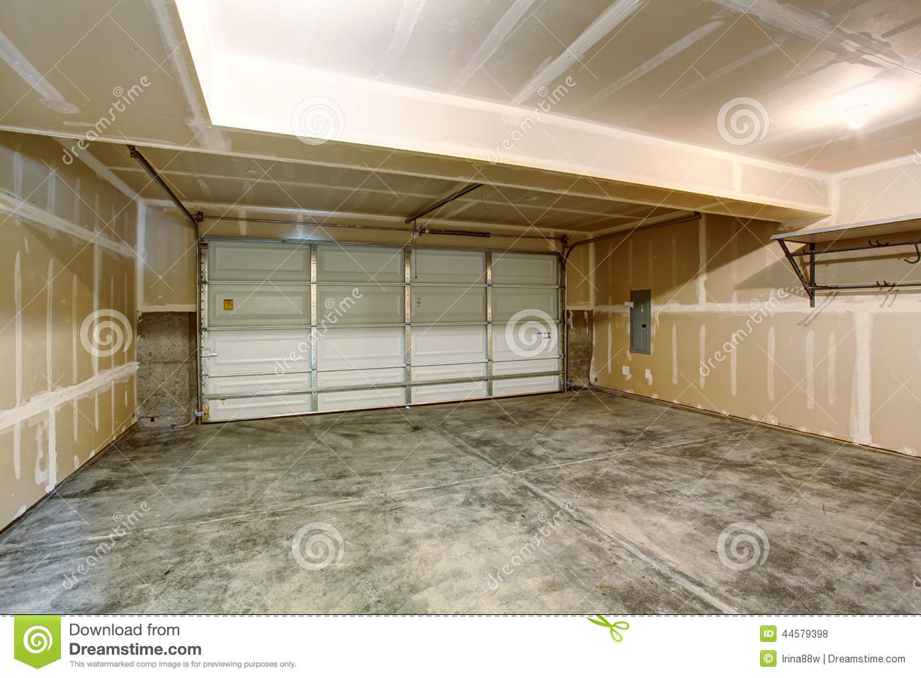triple garage with an apartment upstairs stock photo image 35840530 empty garage in modern apartment building royalty free stock photos