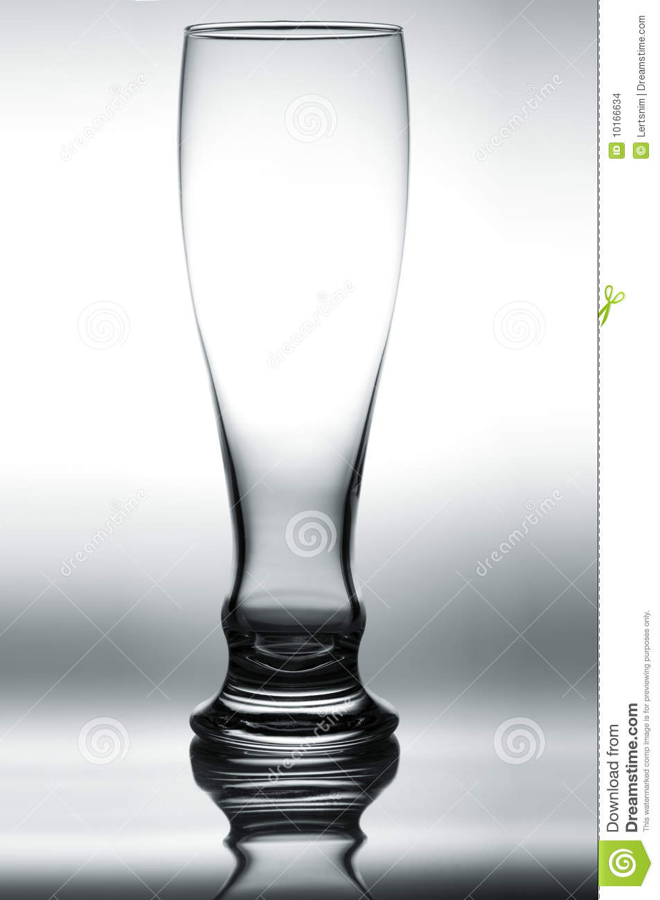 Empty glass of beer