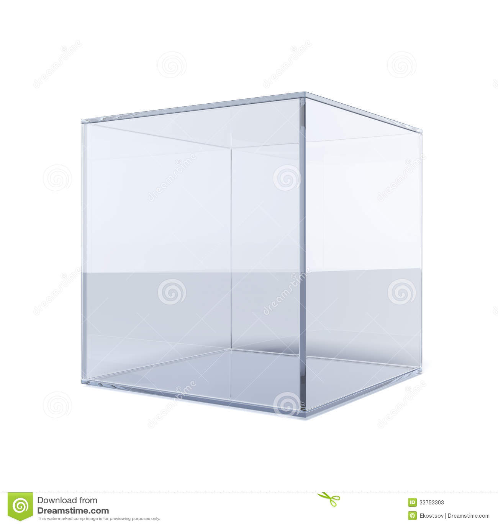 Empty Glass Cube Stock Photos