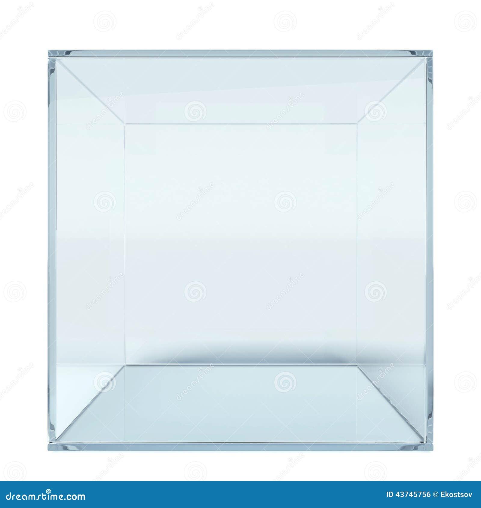 Empty Glass Cube Stock Illustration Illustration Of