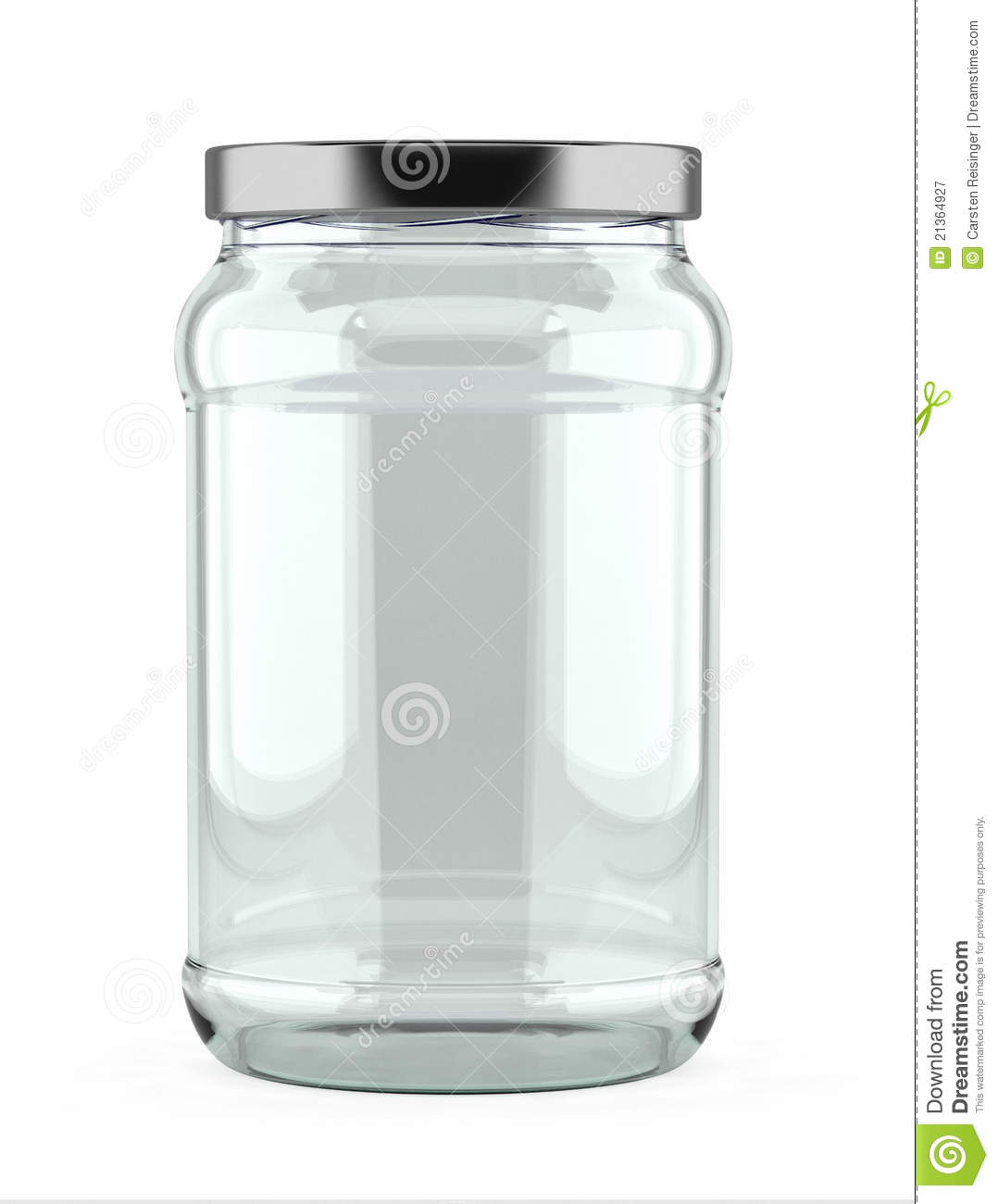 Empty Glass Jar Royalty Free Stock Photography - Image ...