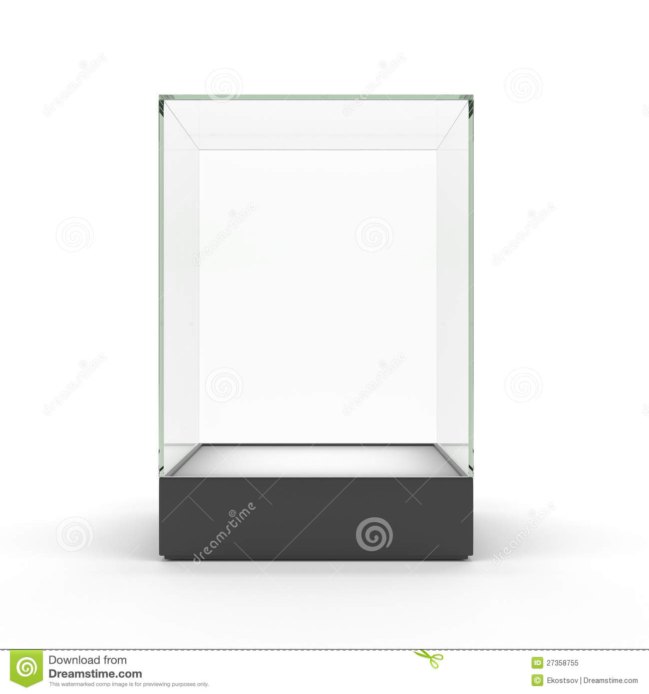 #83A526 Empty Glass Showcase For Exhibit Isolated Royalty Free  with 1300x1390 px of Best Glass Display Cases For Business 13901300 image @ avoidforclosure.info
