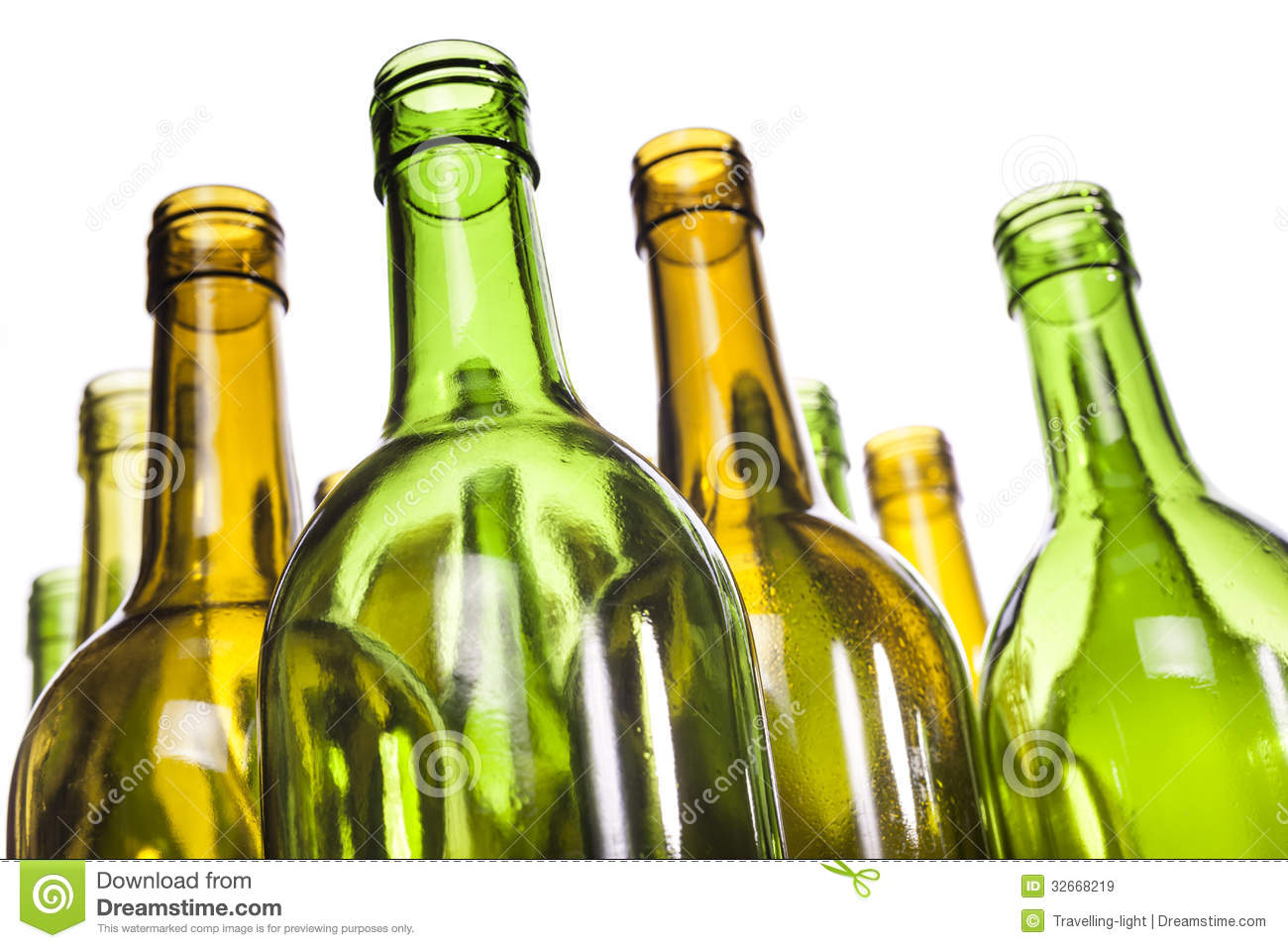 Empty glass wine bottles royalty free stock images image for Empty wine bottles