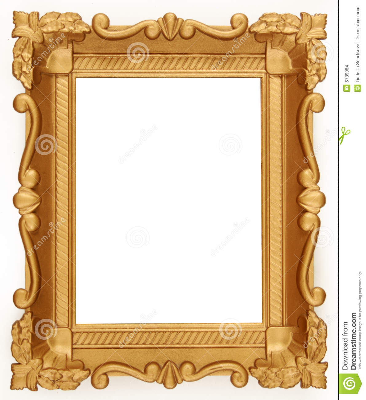 Empty gold frame stock photo image of rustic isolated for What to do with empty picture frames