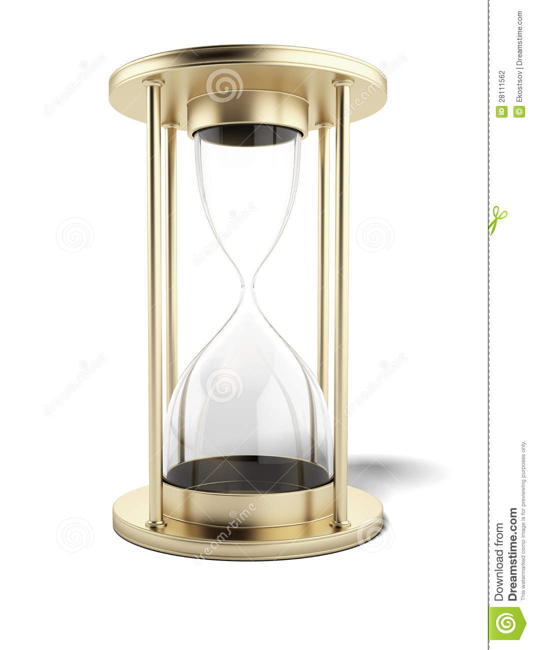 Empty Gold Hourglass Stock Photography Image 28111562