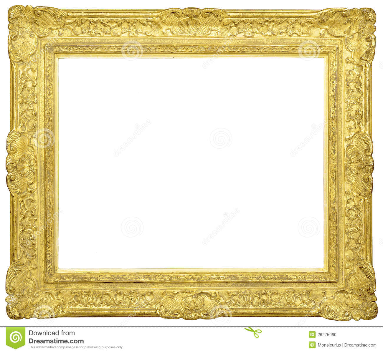 Empty golden frame stock photo. Image of golden, old ...