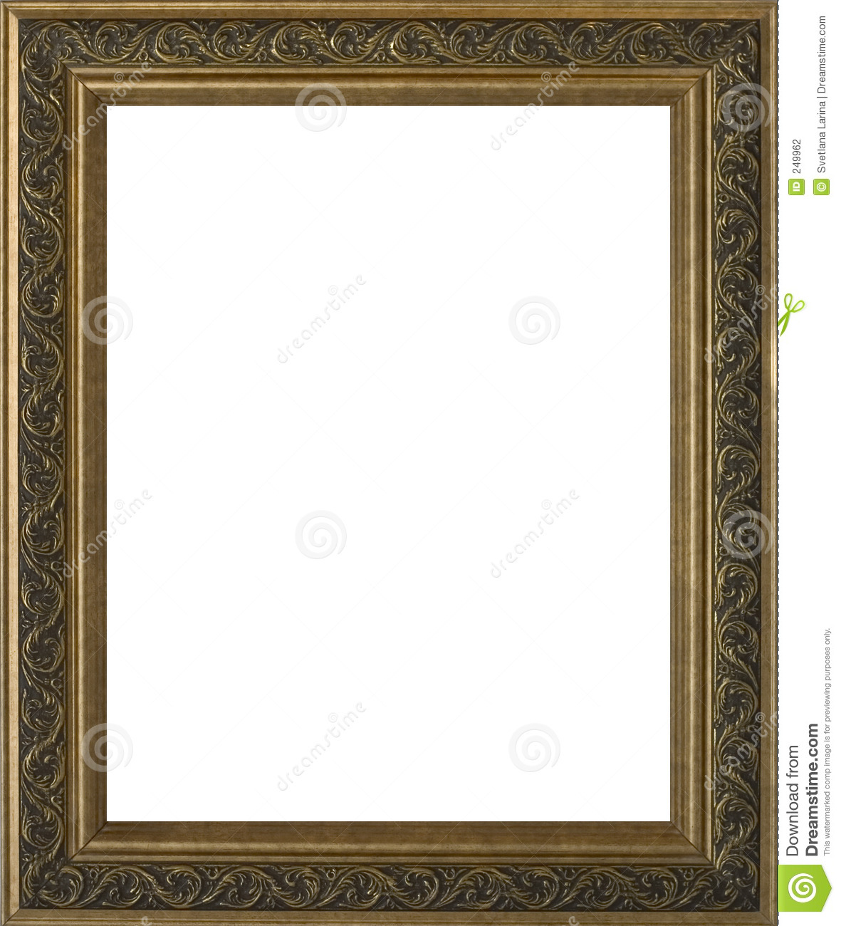 empty golden ornate frame