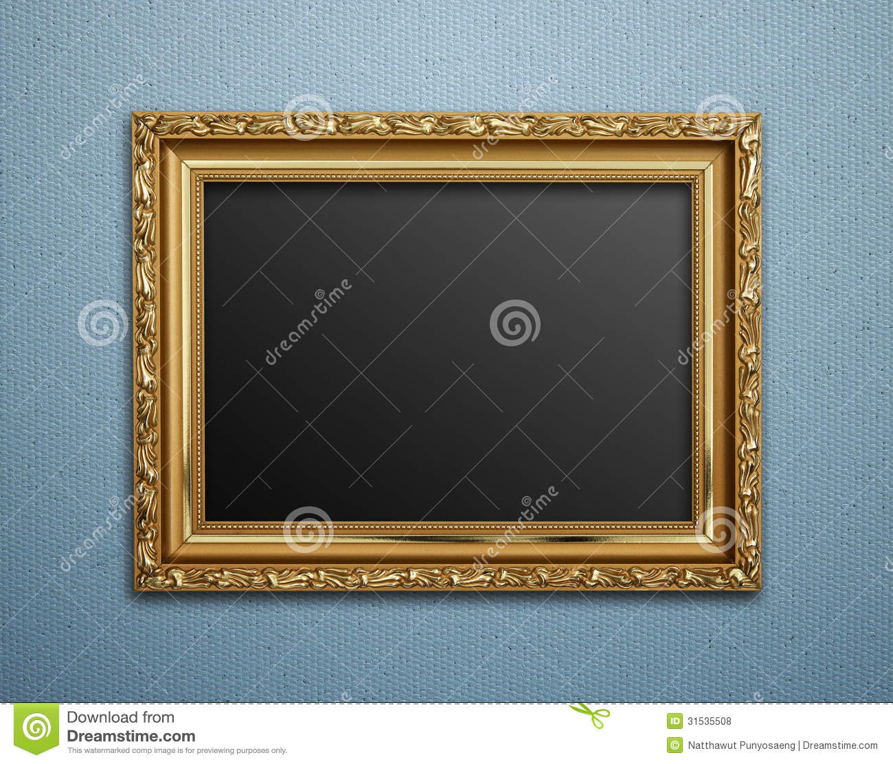Empty Golden Vintage Frame Stock Photo Image Of Classical 31535508
