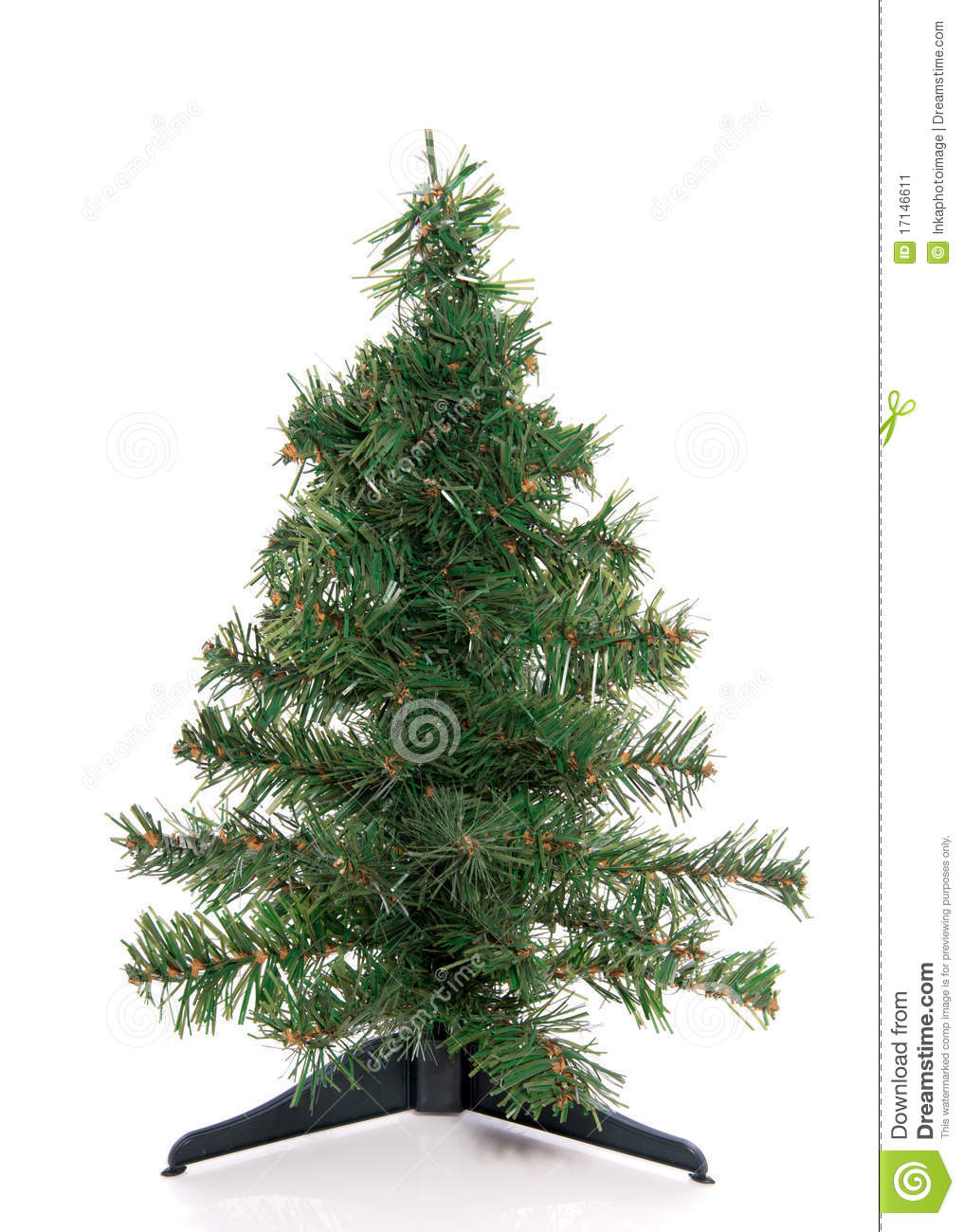 An empty green christmas tree stock image