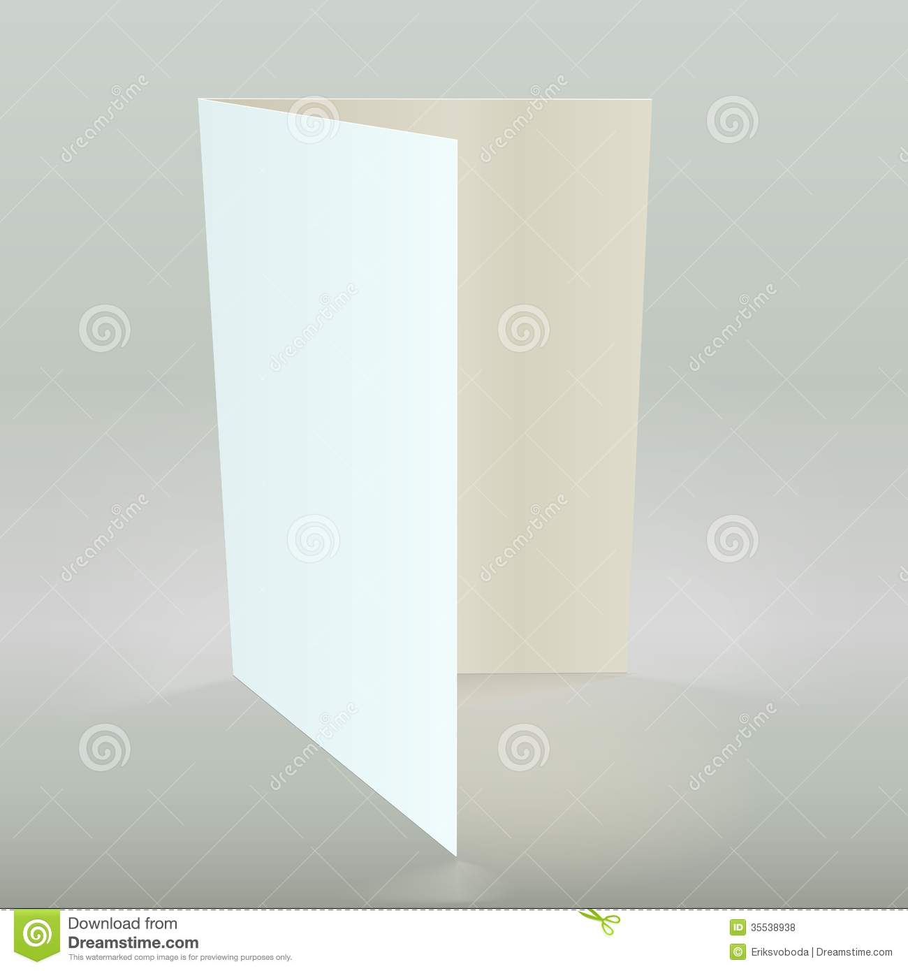 How To Make A Book Cover Out Of A Paper Bag ~ Empty greeting card vector illustration stock vector