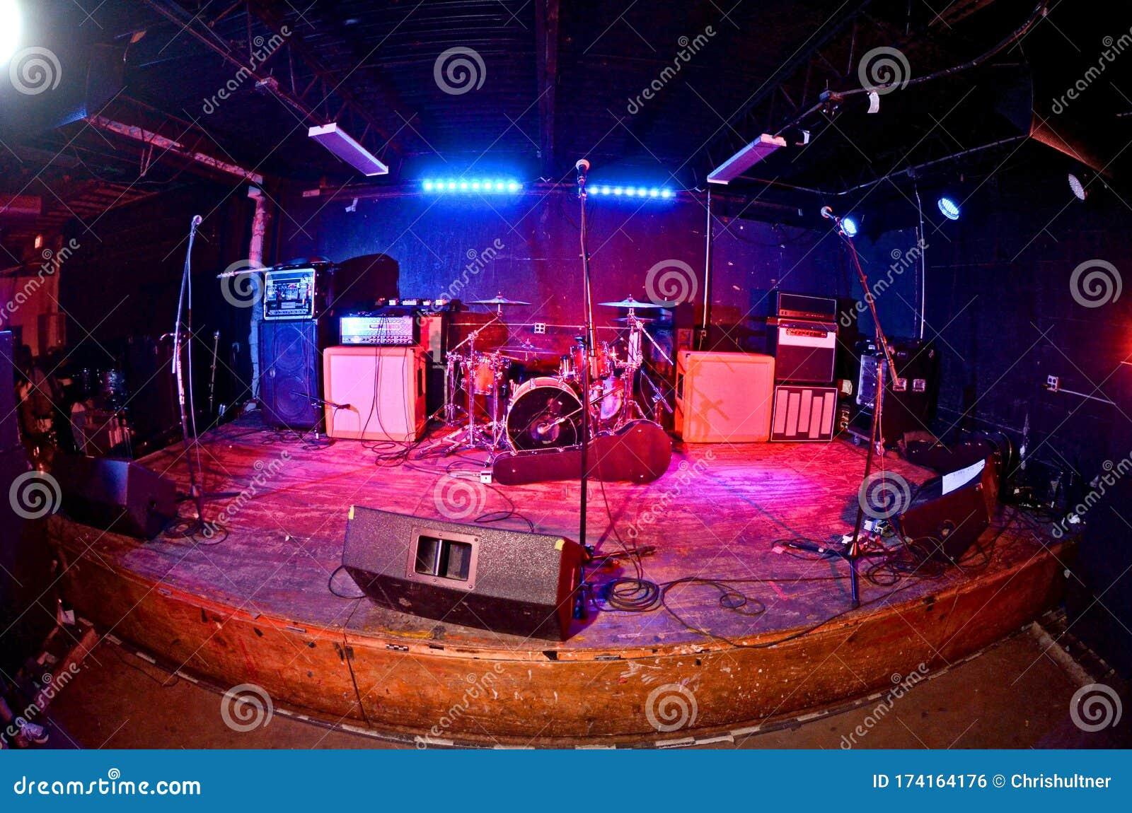 Empty grunge concert stage stock photo. Image of happy ...