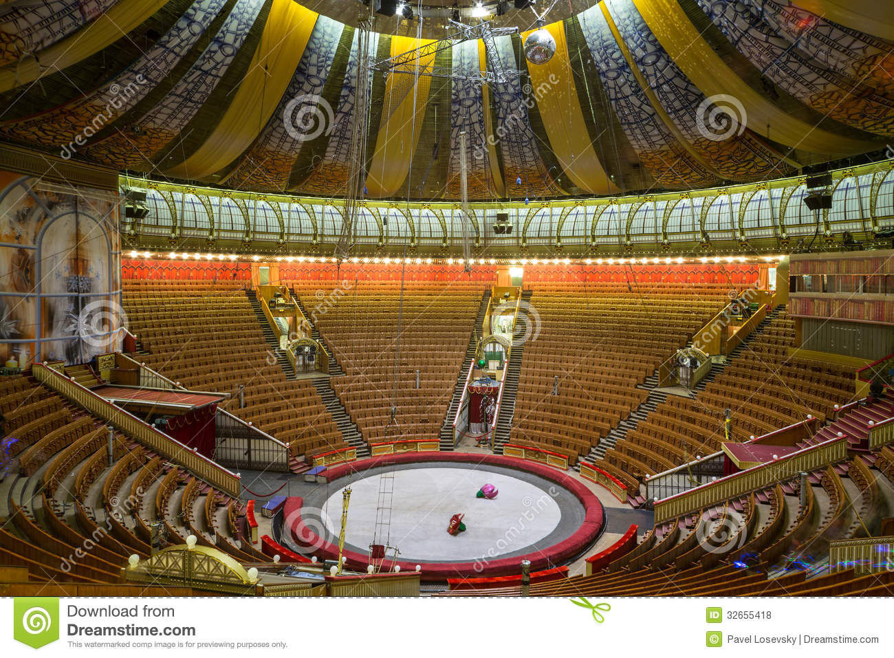 Empty Hall Of The Great Moscow State Circus Editorial