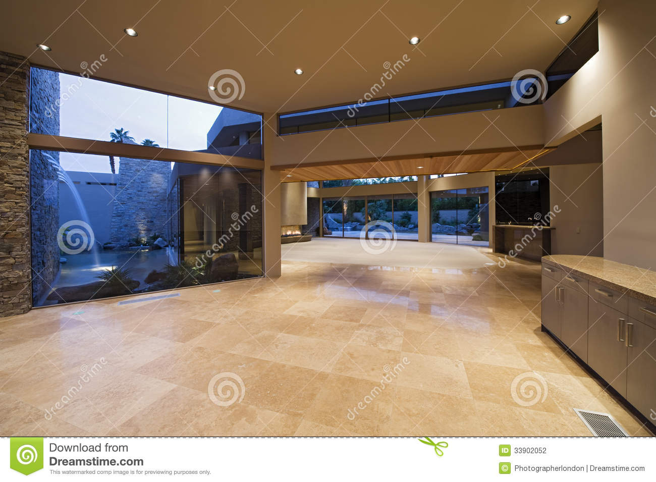 Empty hall royalty free stock image for Modern house hall