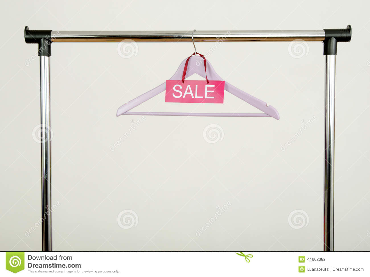 photo sign rack clothes of empty stock and a plastic image sale with big hangers colorful download