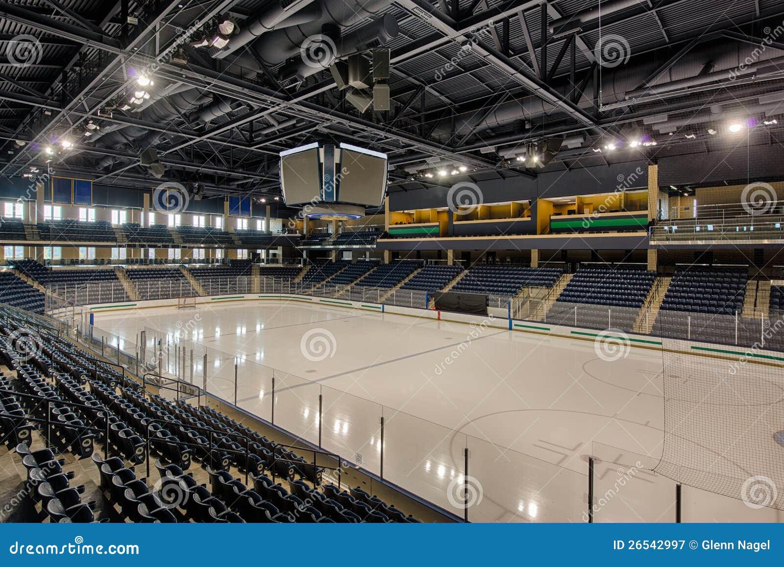 empty hockey arena royalty free stock photography