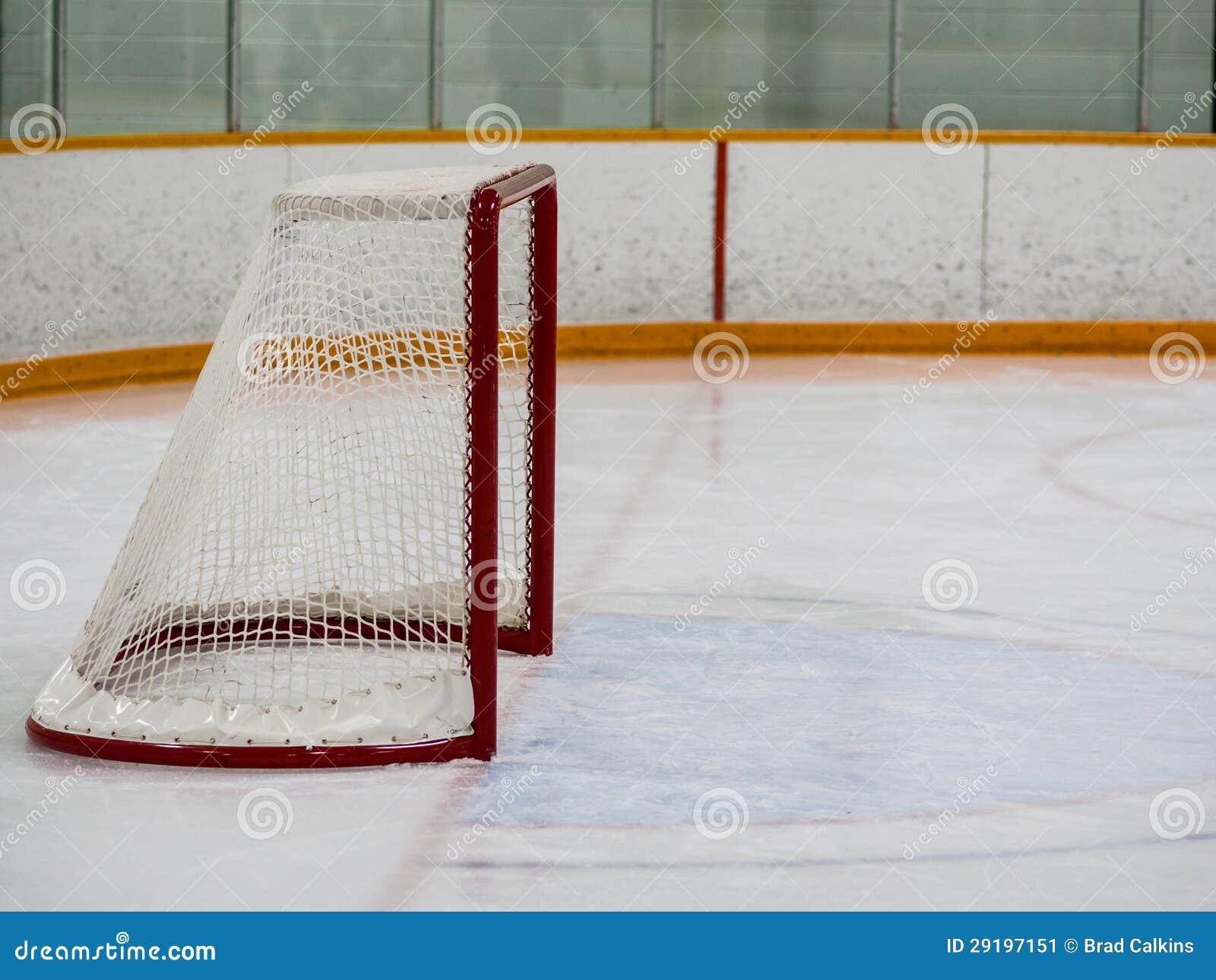 Empty hockey net