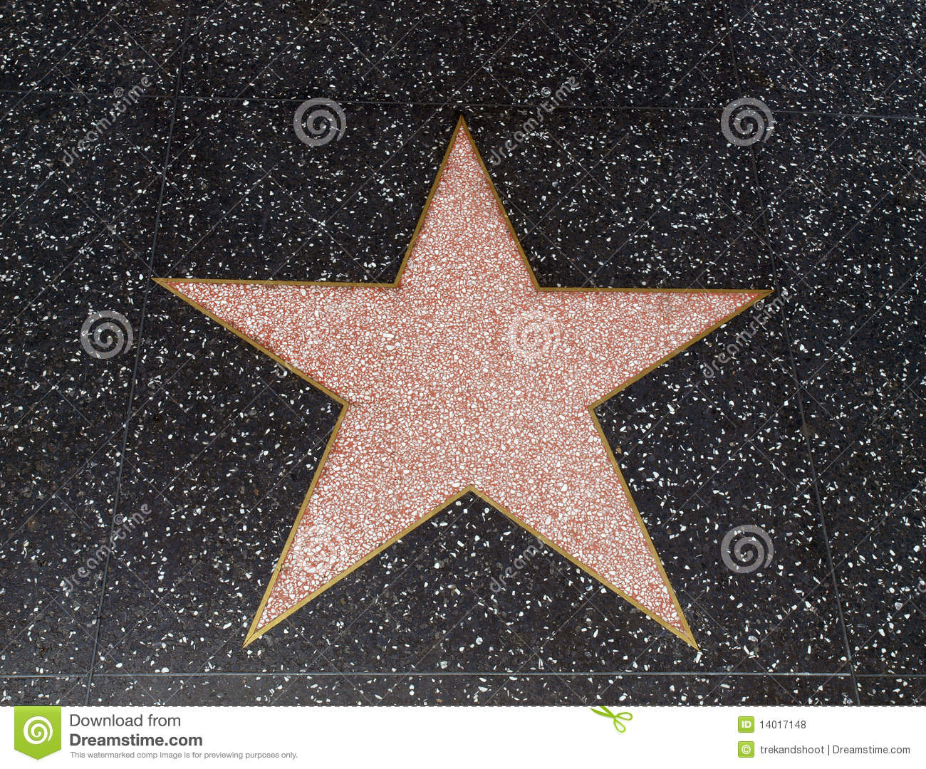 Empty Hollywood Star Editorial Stock Photo - Image: 14017148