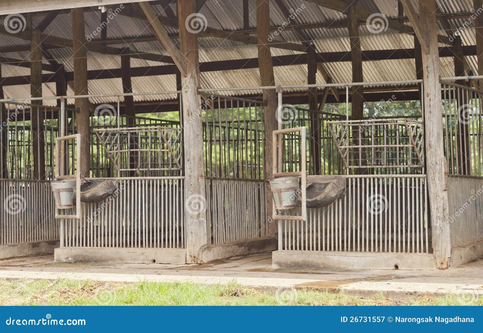 Empty Horse Barn Royalty Free Stock Photography Image