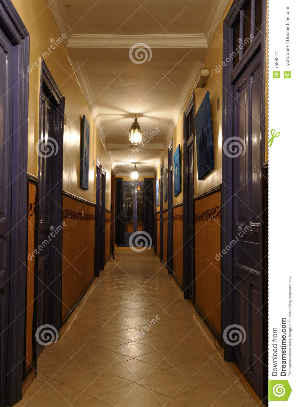 Empty Hotel Corridor Stock Photo Image Of Architectural