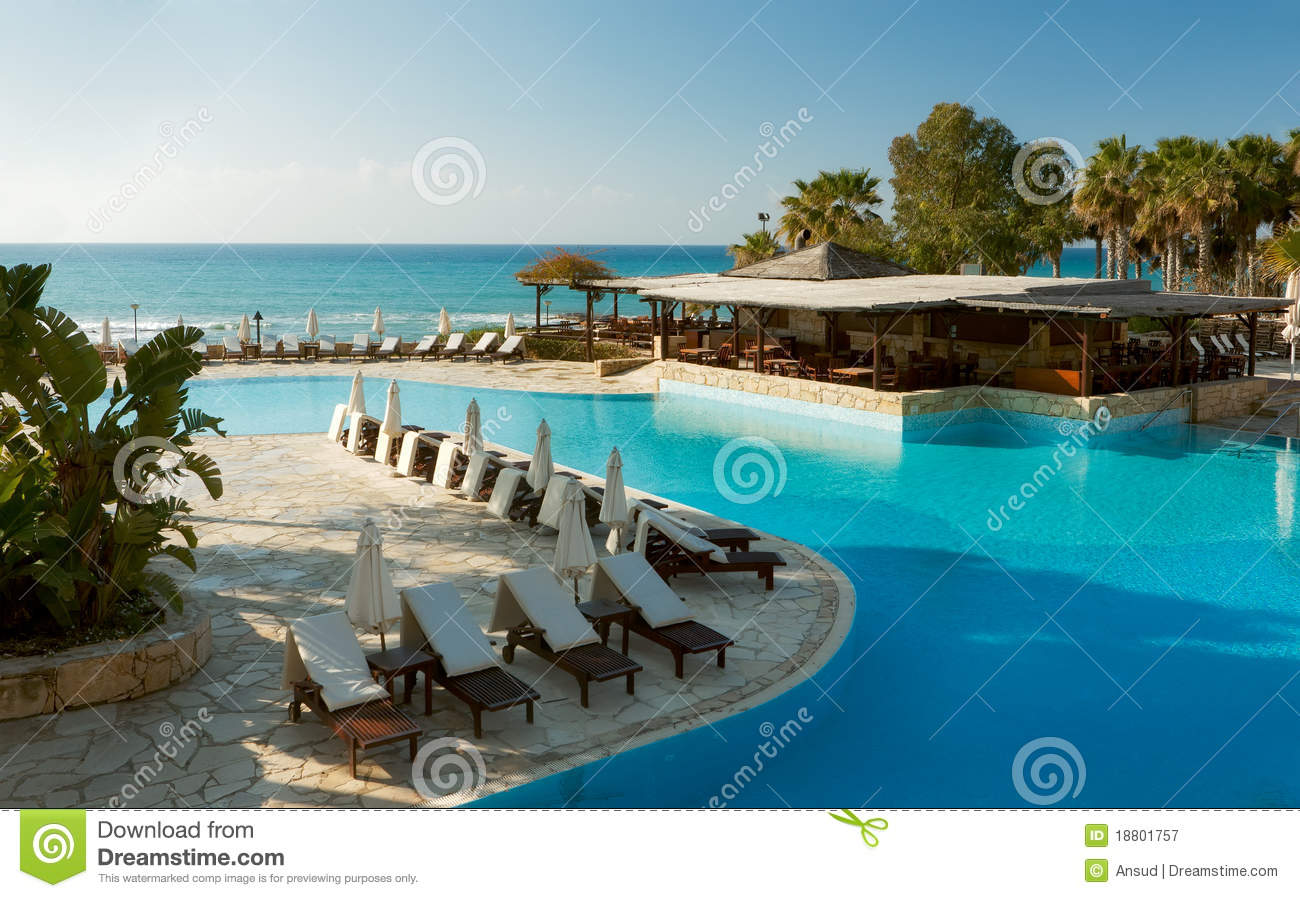 Empty Hotel Pool Royalty Free Stock graphy Image