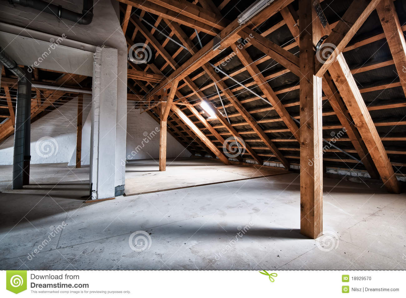 Download Empty house attic stock photo. Image of building, obsolete - 18929570