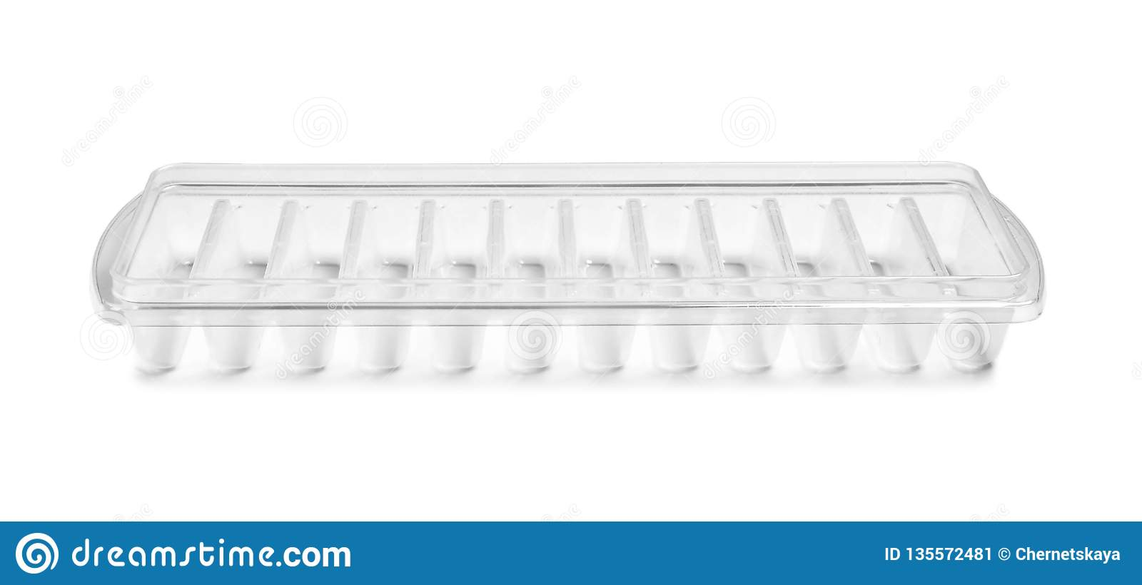 Empty ice cube tray