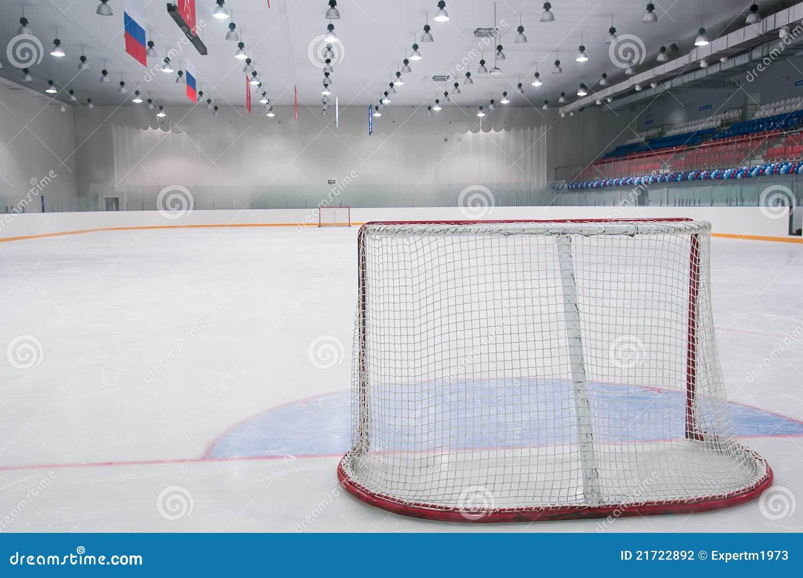 empty ice hockey playground stock photography image