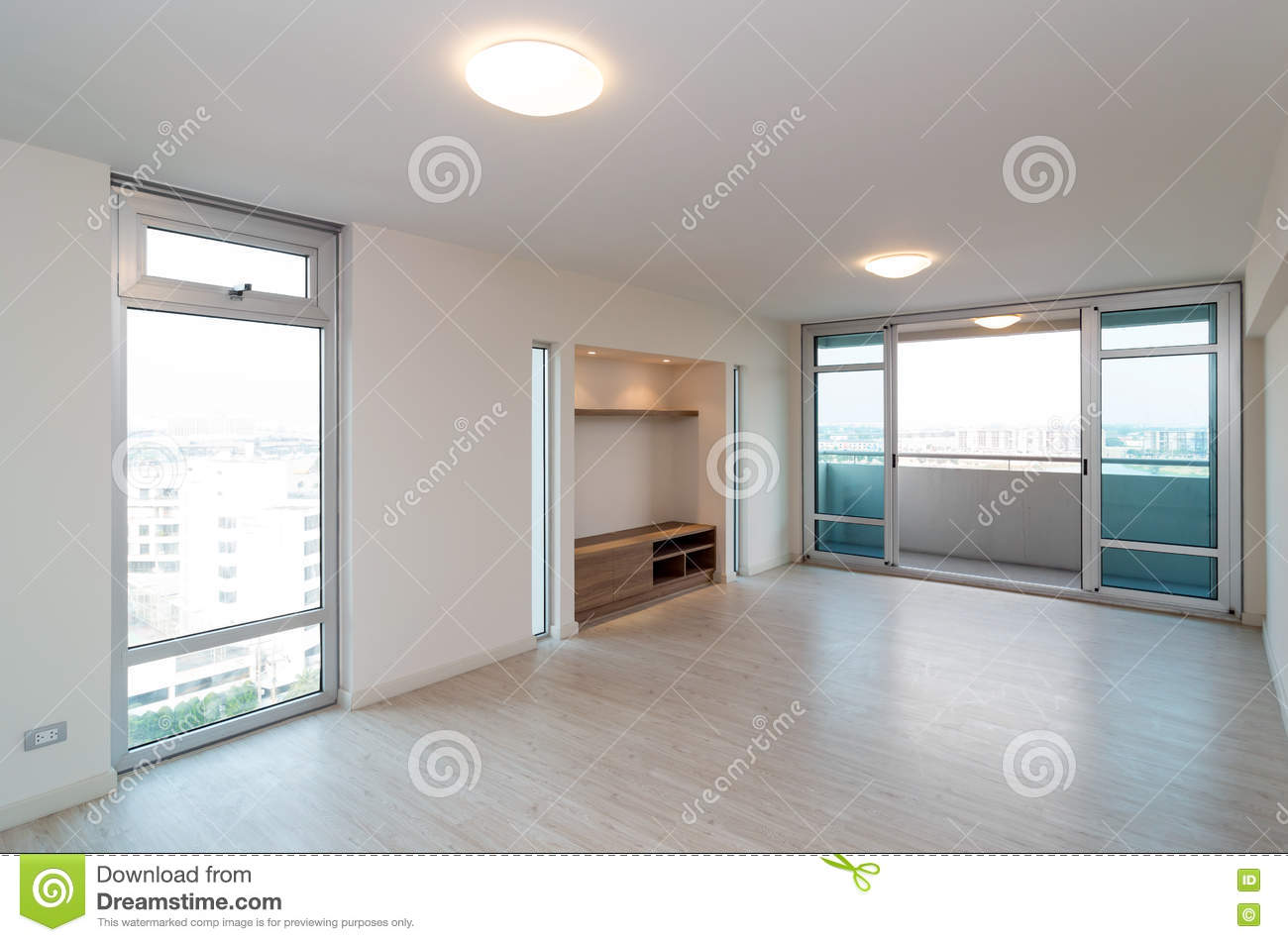 wonderful empty apartment living room | Empty Interior Living Room In A New Apartment Stock Photo ...