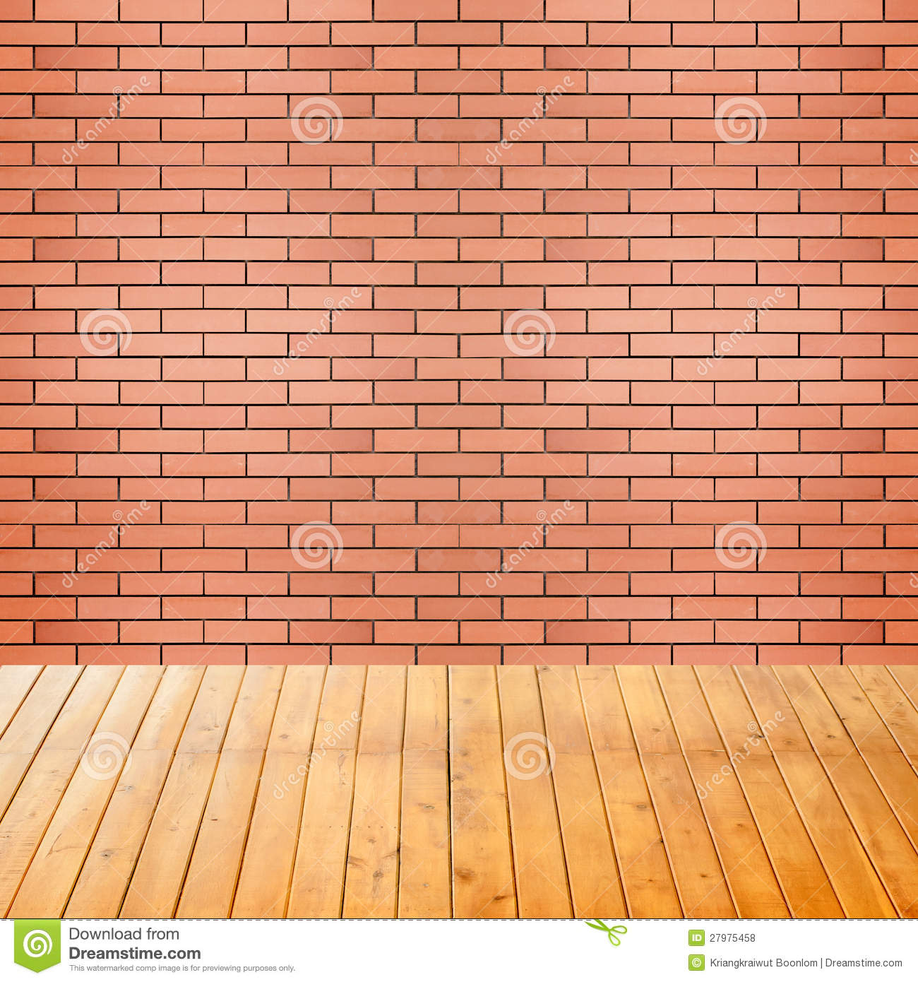 Empty Interior Room With Brick Wall Background Stock Photo ...