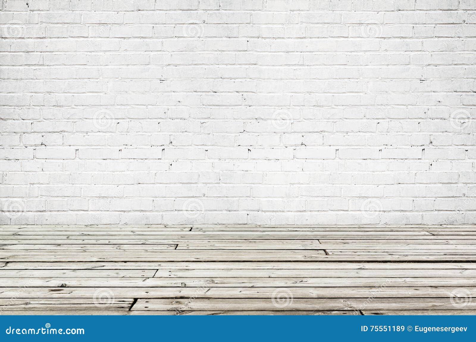 Background Brick Empty Floor Gray Interior Old Texture Wall White ...